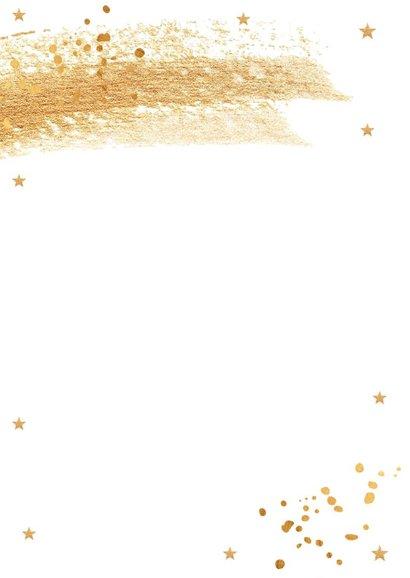 Kerstdiner uitnodiging met gouden confetti en brush 2