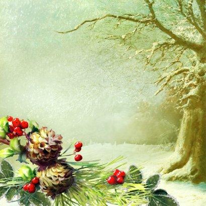 Kerstgroet eigen foto winterbos 2019  2