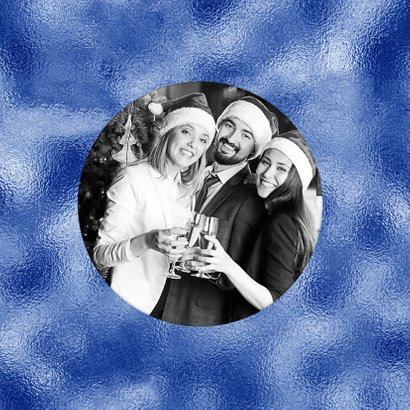Kerstkaart 2019 grafisch blauw print 2