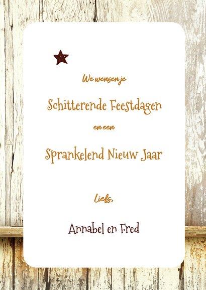 Kerstkaart 2019 trendy hout wegwijzer 3