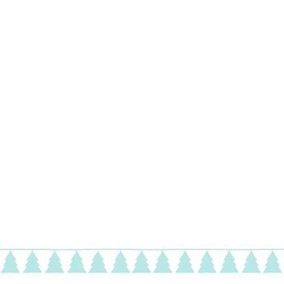 Kerstkaart boom en ster 2