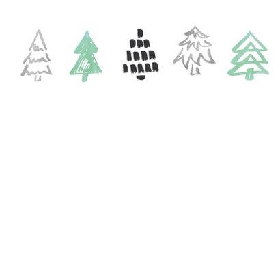 Kerstkaart boompjes op krijtbord 2