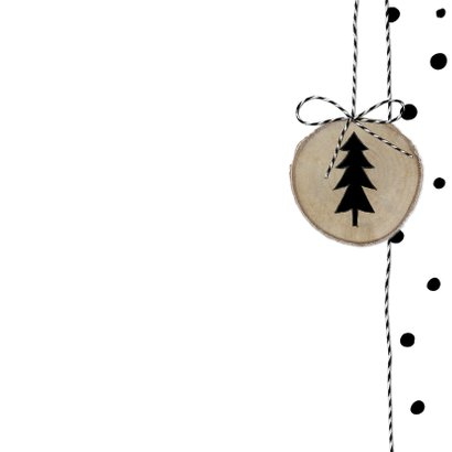 Kerstkaart Boomschijven Stippen 3