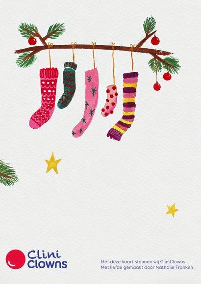 Kerstkaart CliniClowns sokken 2