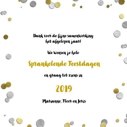 Kerstkaart confetti goud en zilver 2019 3