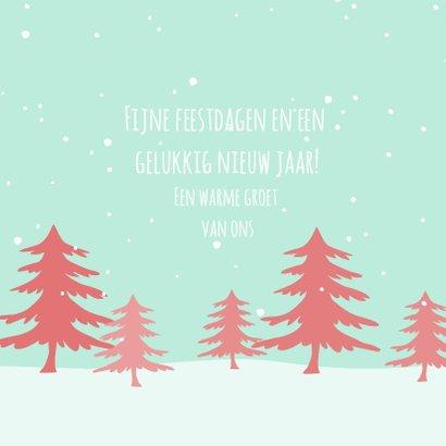 Kerstkaart  denneboom 3