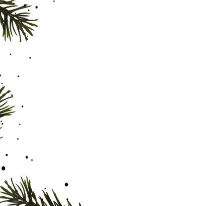 Kerstkaart dennentakjes stippen 2