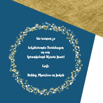 Kerstkaart foto confetti met aanpasbare achtergrondkleur  3