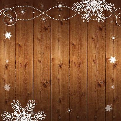 Kerstkaart foto houtprint donker 2