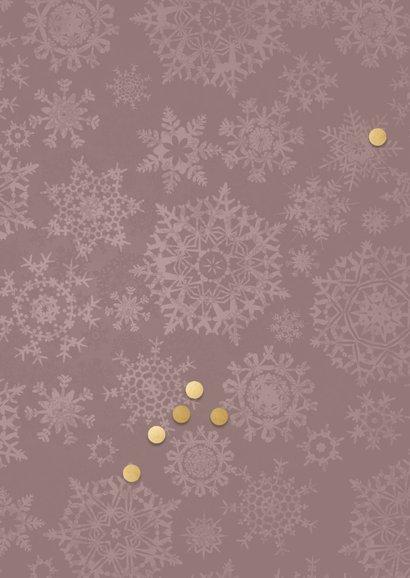 Kerstkaart goudkleurige lijst met 4 foto's 2