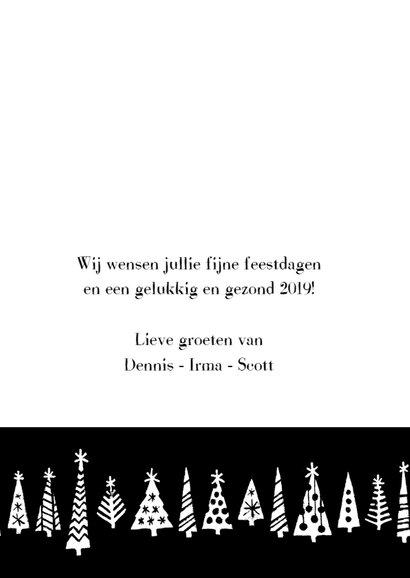 Kerstkaart happy 2019 bomen 3