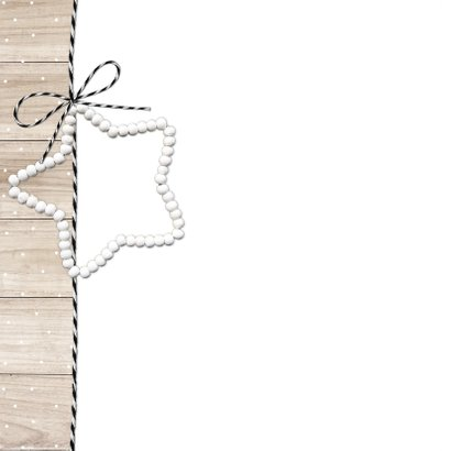 Kerstkaart hout kralenster 2