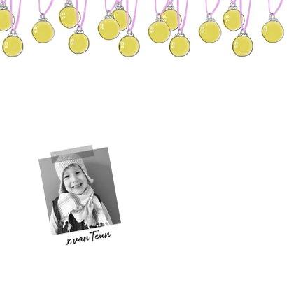 kerstkaart kerstballen fotocollage familie 2