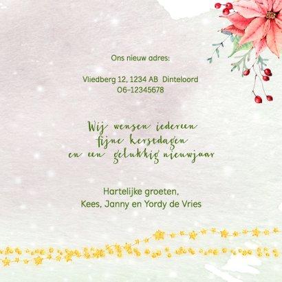 Kerstkaart kerstkrans met sleutel en kerstgroen 3