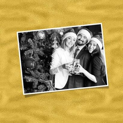 Kerstkaart label goudkleur - SG 2