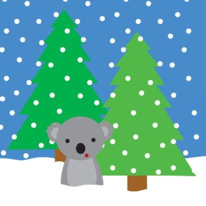Kerstkaart met Koala in de Sneeuw 2
