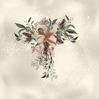 Kerstkaart met natuurlijke krans 2