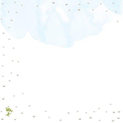 Kerstkaart met Roodborstje in de sneeuw 2