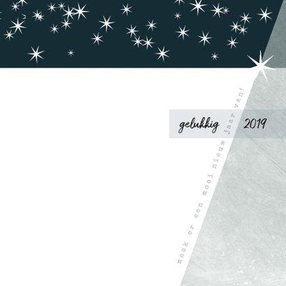 Kerstkaart modern, met grote foto en sterretjes 3