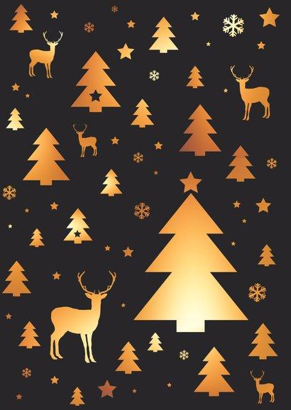 Kerstkaart patroon kerstboom, rendier, ster 2