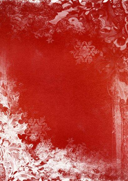 Kerstkaart rood wit - SG 2
