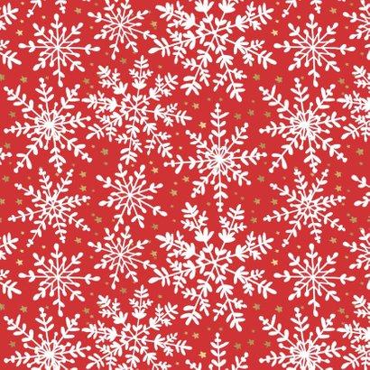 Kerstkaart Sneeuwvlokken Foto 2