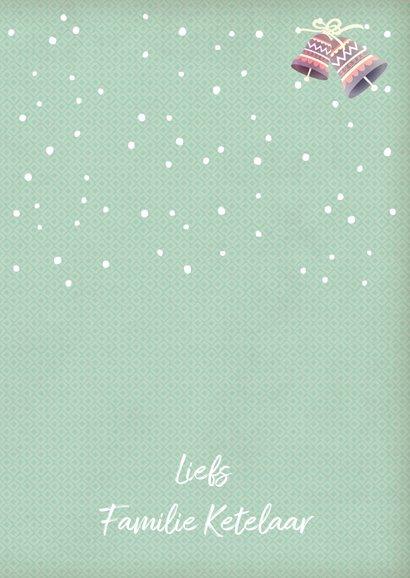 Kerstkaart staand pinguïn met muts 3