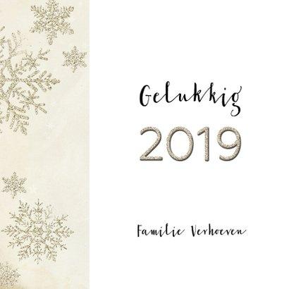 Kerstkaart stijlvol klassiek  taupe 2019 3