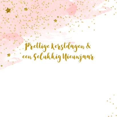 Kerstkaart tekst fotostrip glitter aquarel 2