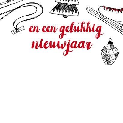 Kerstkaart winter tekeningen 3