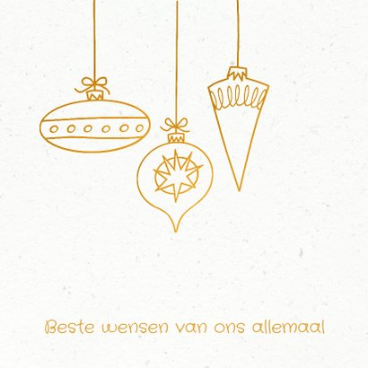 Kerstkaart wit goud papier 2