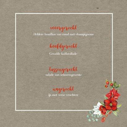 Kerstmenu botanical 3