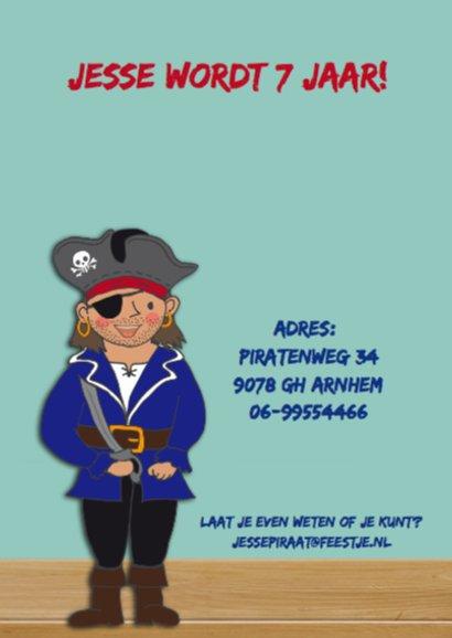 Kinderfeest piraat blauw 2