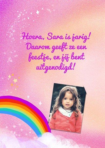 Kinderfeestje eenhoorn met regenboog 2
