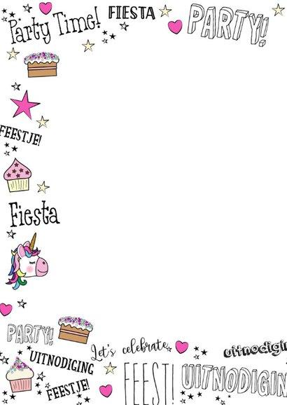 Kinderfeestje handlettering hartjes en unicorn 2