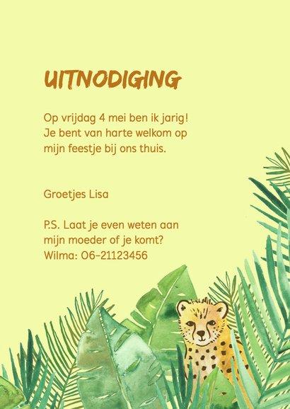 Kinderfeestje jungle jachtluipaarden 3