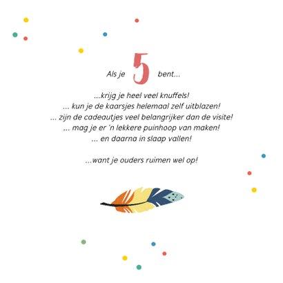 Kinderfeestje uitnodiging vrolijk met confetti en tipi tent 2