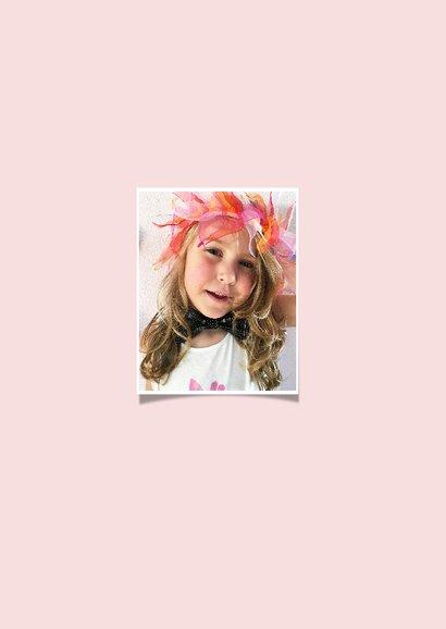 Kinderfeestje vlaggetjes meisje fotokaart 2