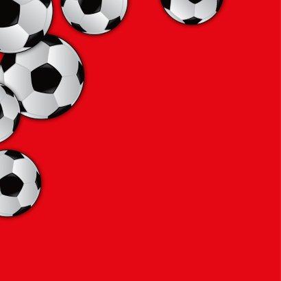 Kinderfeestje voetbal gras eigen foto naam 2
