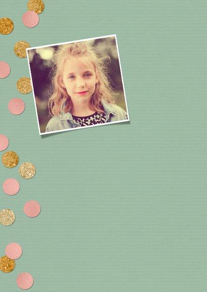 Kinderfeestje voor meisje met foto en confetti 2