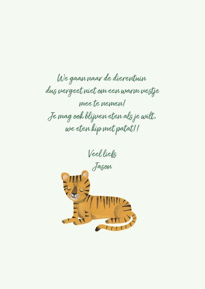 Kinderfeestje Wild One tijgers 3
