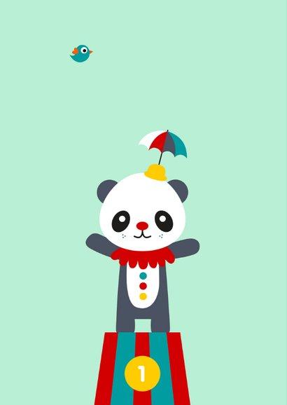 Kinderkaart - Circus panda 2
