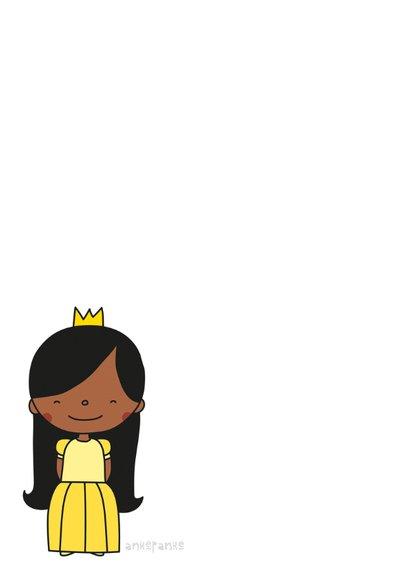 Kinderkaart 'in iedereen schuilt een prinses' 2