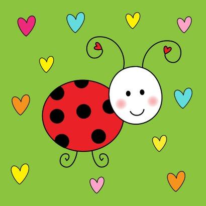 Kinderkaart Lieveheersbeestje groen 2