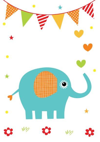 Kinderkaart olifant slinger 2