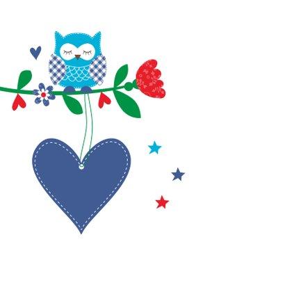 Kinderkaart uiltjes blauw jongen 2