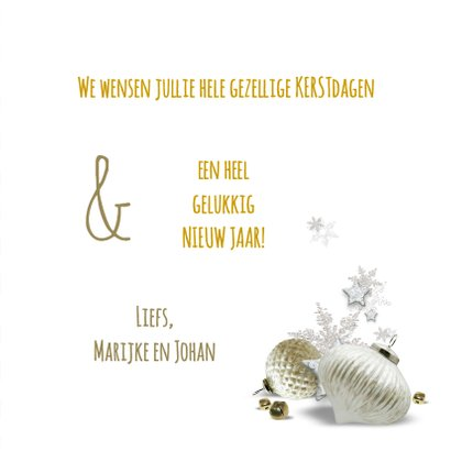 Klassiek moderne kerstkaart - SG 3