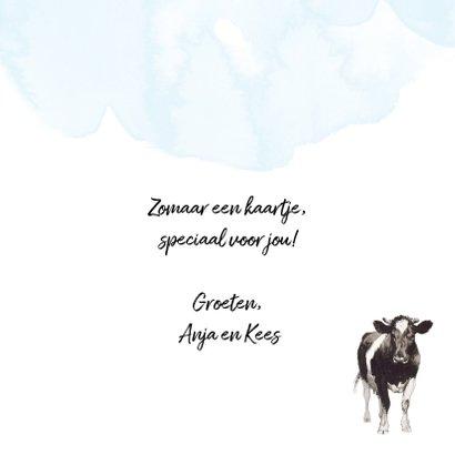 Koeienkaart Een koe is een koe, dat is nou eenmaal zo 3