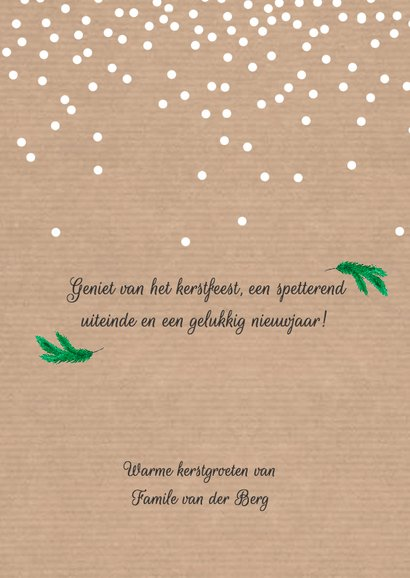 Kraft kerstkrans met foto - SU 3