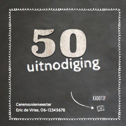 Krijtbord 50 jaar huwelijk - hout cijfers 2